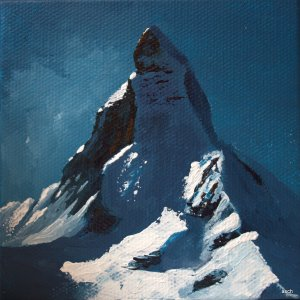 matterhorn miniature acrylic on canvas