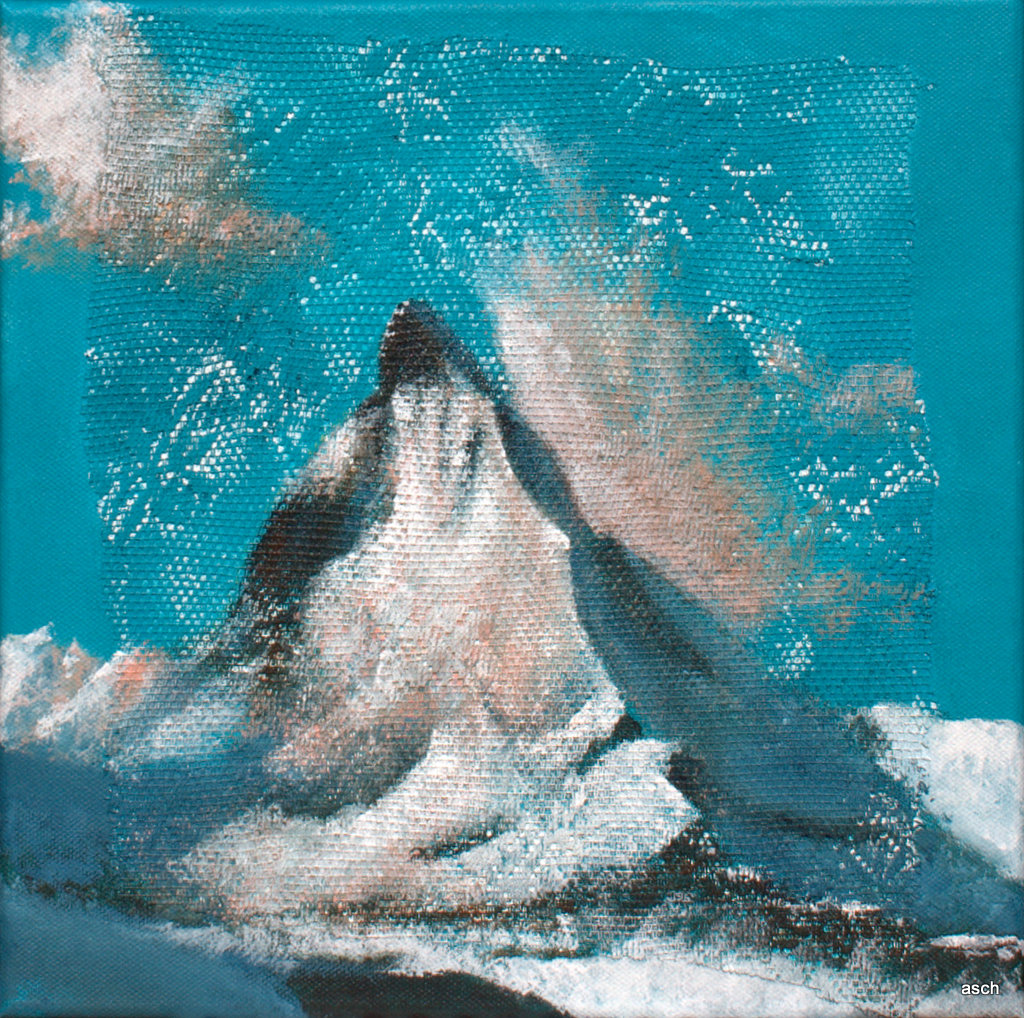 matterhorn mixed media on canvas