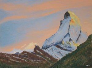 matterhorn chalk pastel painting