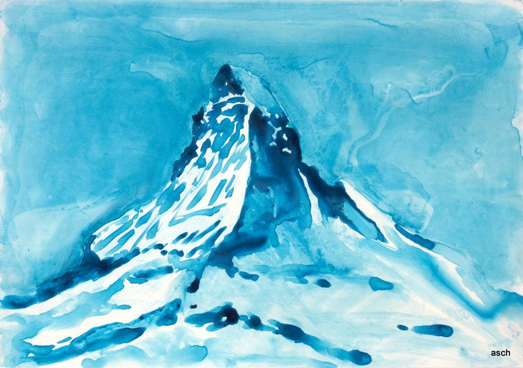matterhorn watercolour on yupo