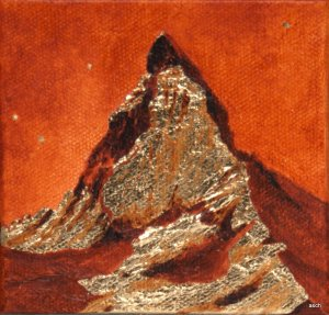 matterhorn miniature mixed media