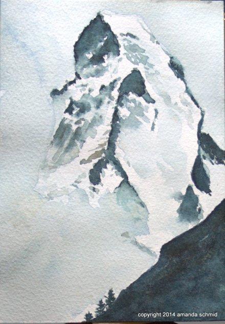 matterhorn watercolour