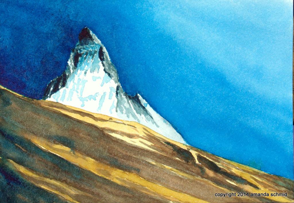 Matterhorn, watercolour on paper